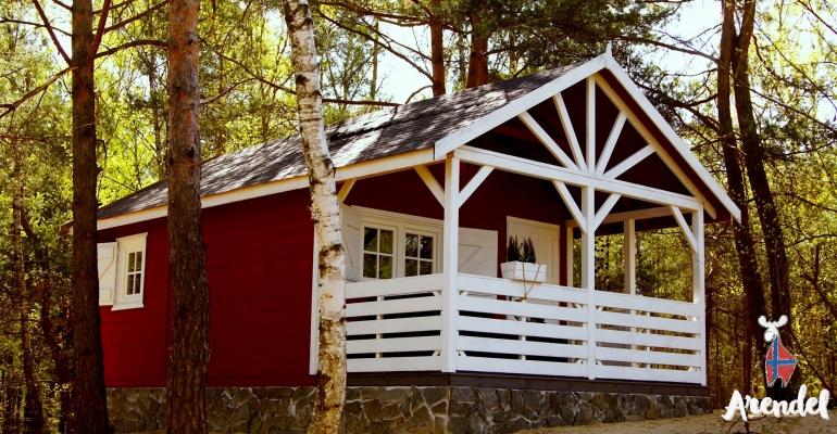 Nasze domki w Norweskiej wiosce Arendel