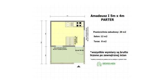Domek Letniskowy Amadeusz I - 5x4m