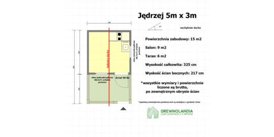 Domek Letniskowy Jędrzej - 5x3m, altana ogrodowa