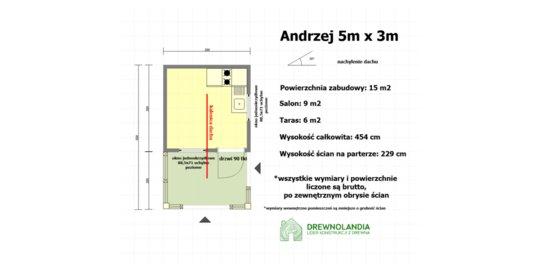 Domek letniskowy Andrzej - 5x3m