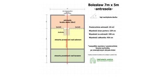 Domek Letniskowy z antresola Bolesław - 7x5m