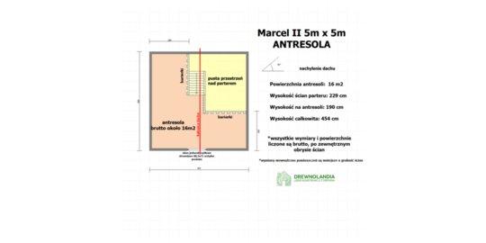 Domek Ogrodowy z tarasem Marcel II - 5x5m