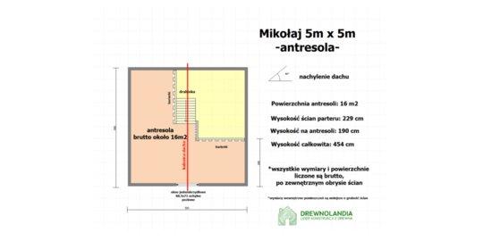 Domek Ogrodowy caloroczny Mikołaj II - 5x5m