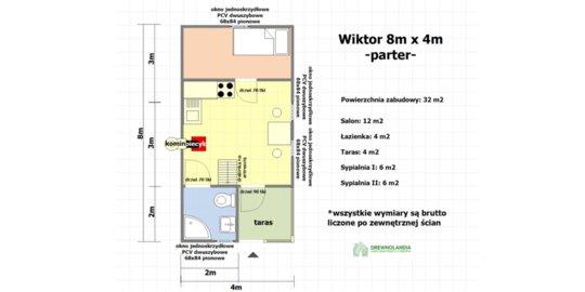 Dom Wiktor 8x4 całoroczny z Ociepleniem - wersja pod klucz