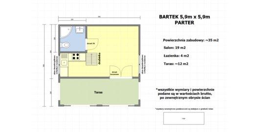 projekt domku letniskowego bartek