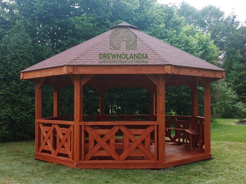 Altanka osmiokatna drewniana