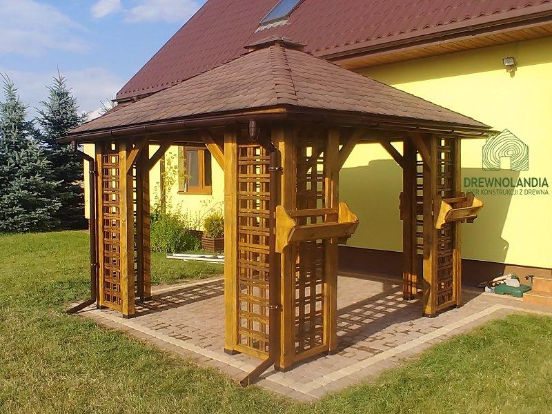 Altanka drewniana kwadratowa