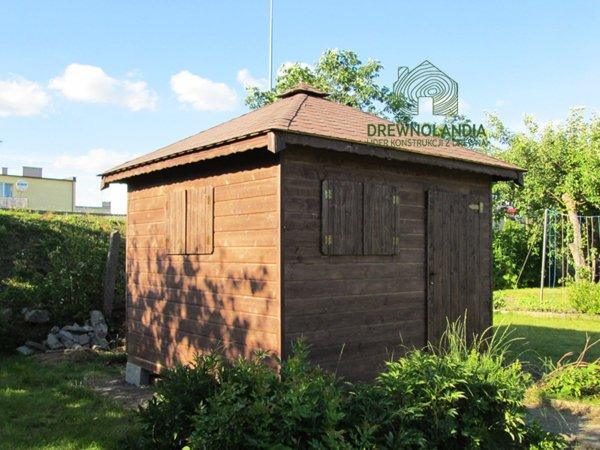 Domek gospodarczy z drewna