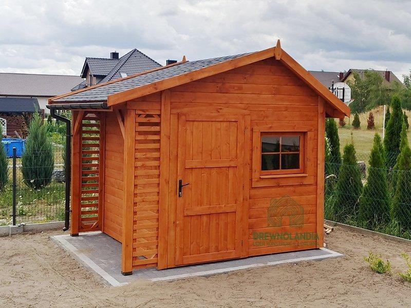 Domek gospodarczy z drewna Bonifacy - 3x2,5m