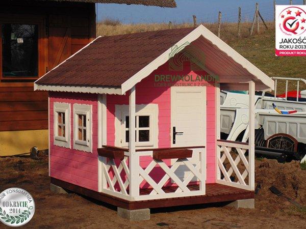 mały różowiutki domek dla dzieci