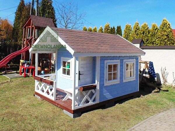 błękitny dziecięcy domek