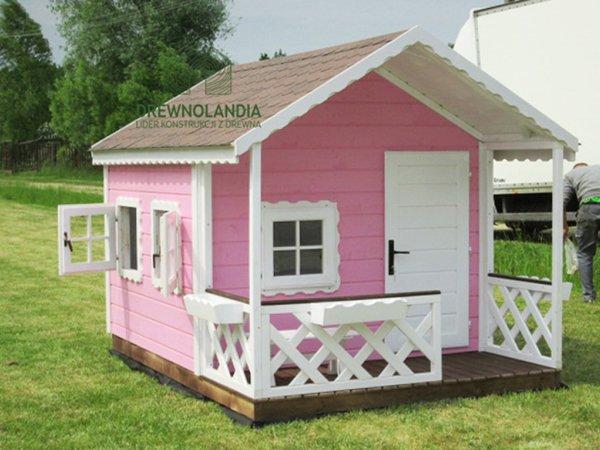 Drewniany domek dla dzieci1
