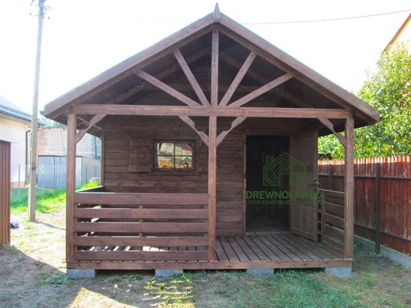 Domek ogrodowy Aleksander 6x4m z drewna producent drewnolandia.pl