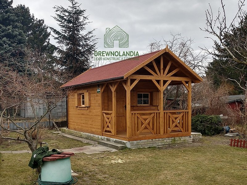 Letniskowe drewniane domki 35m
