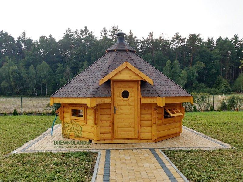 Drewnolandia drewniany domek grillowy