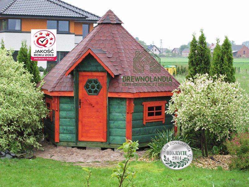 domek drewniany jak dla hobbitów