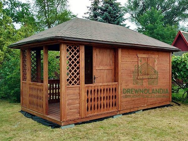 Domek drewniane domki na dzialke