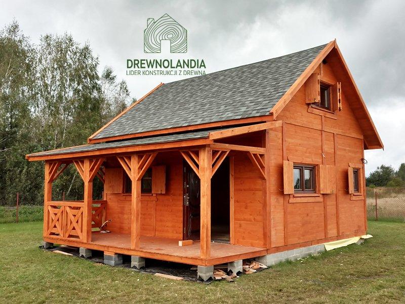 Domek z drewna na zgloszenie