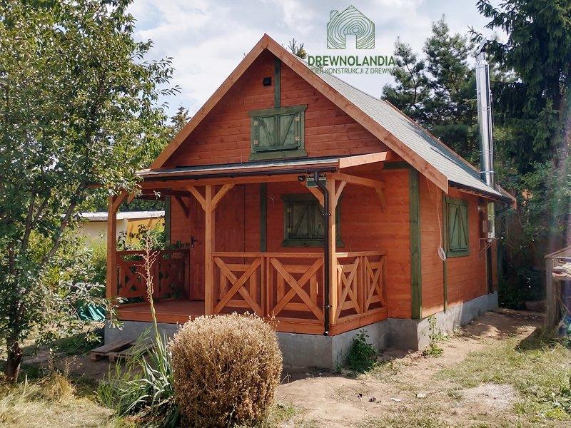 Domki drewniane letniskowe taras 35m