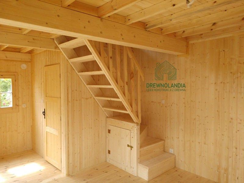 Domki z drewna schody drewniane