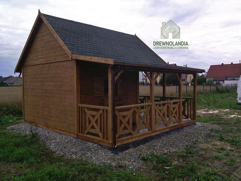 Domki ogrodowe z drewna producent Drewnolandia 2017