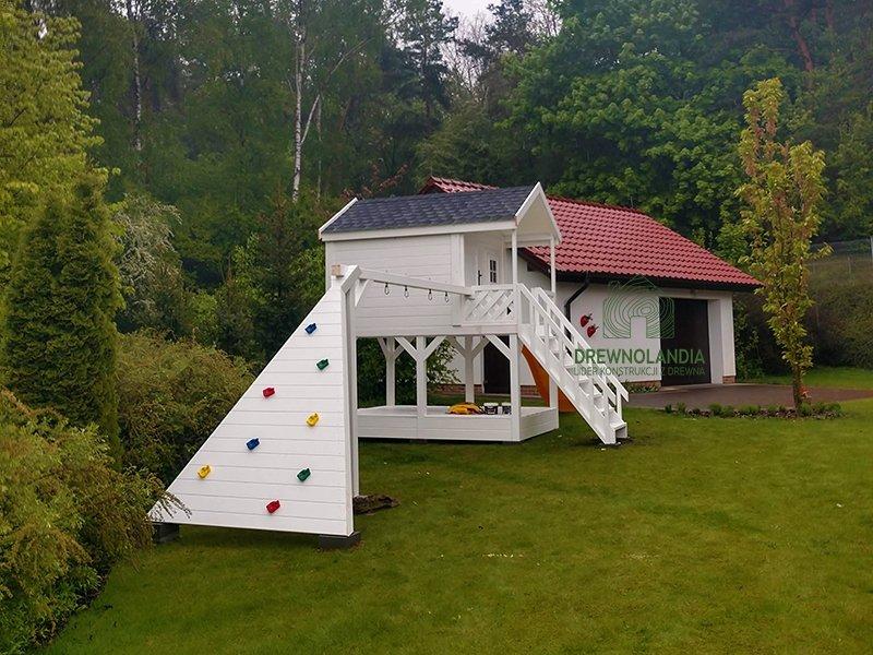 Domek ze zjezdzalnia dla dzieci