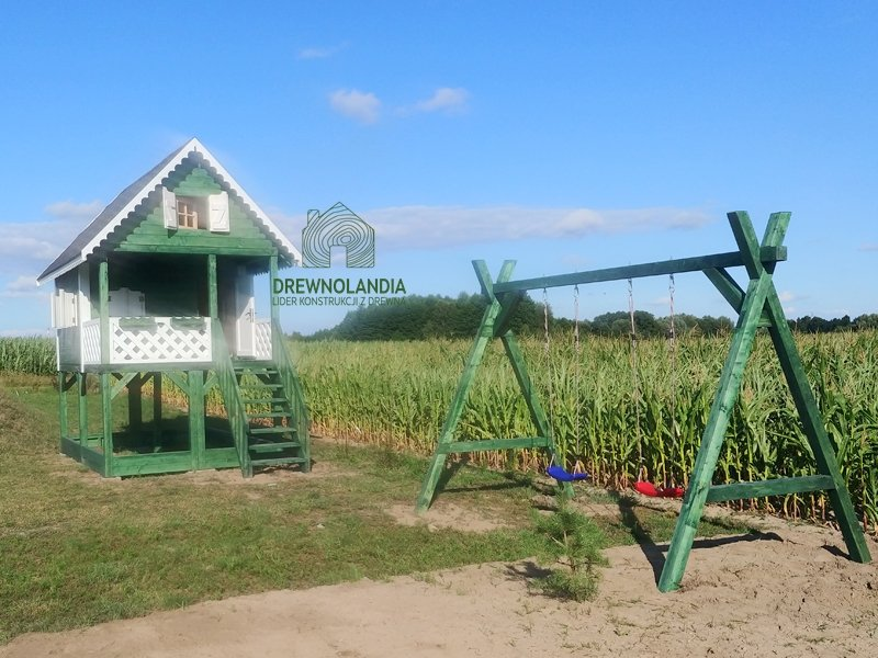 Drewnolandia plac zabaw domek dla dzieci