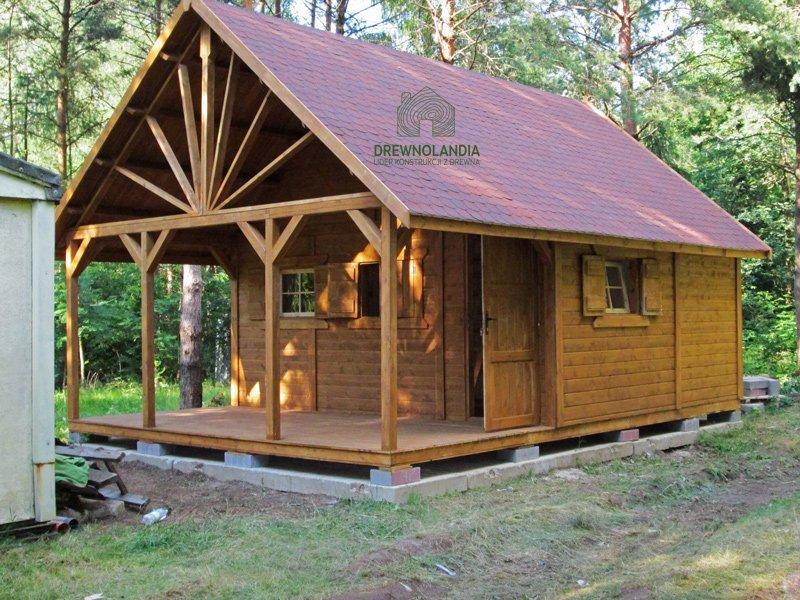 Domek drewniany na dzialke 2017