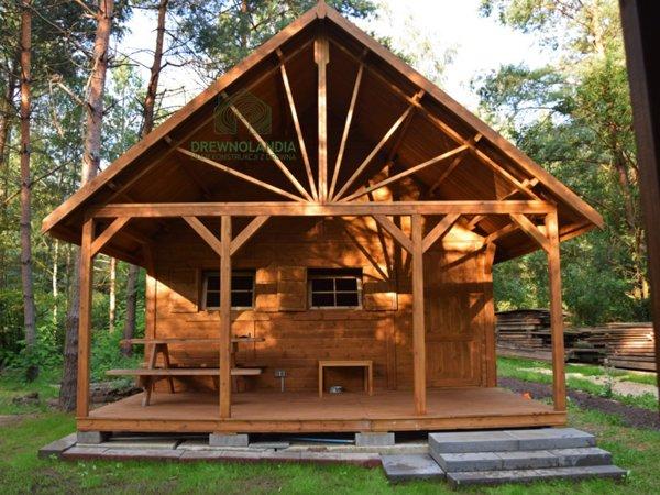 Domek z drewna na dzialke 2017