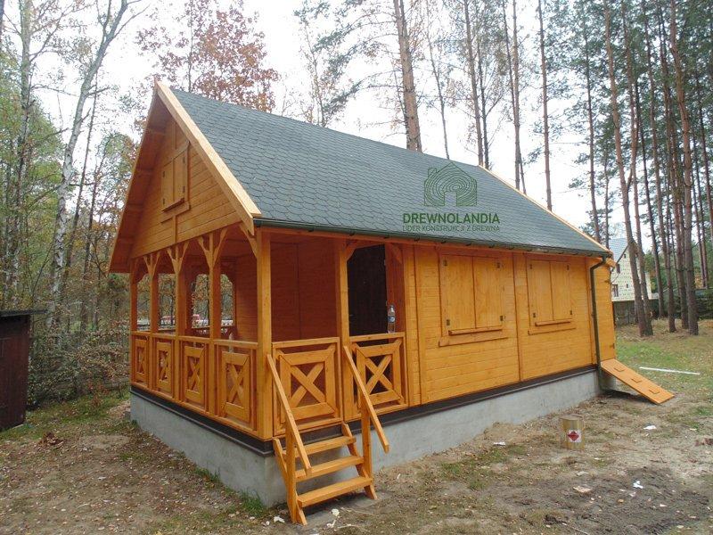 Domek z drewna na Rodzinne Ogrody dzialkowe 2017