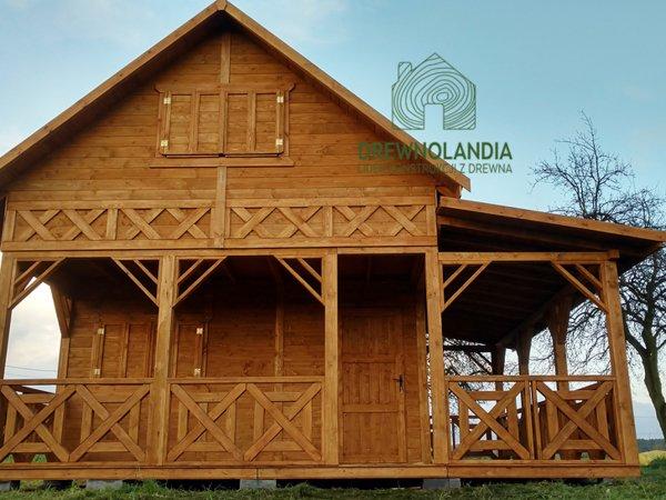 Domek z drewna na dzialke
