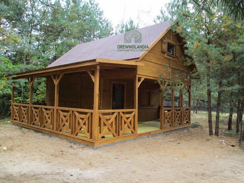 Drewniany domek letniskowy Drewnolandia 2017