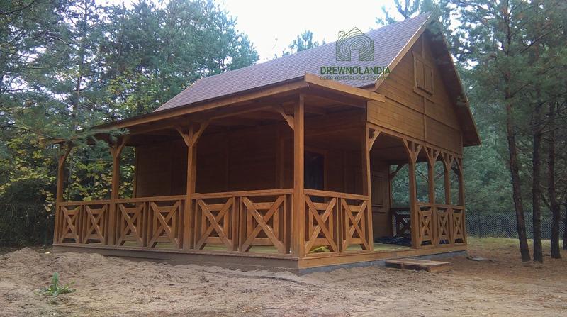 Drewniany domek ogrodowy Drewnolandia 2017