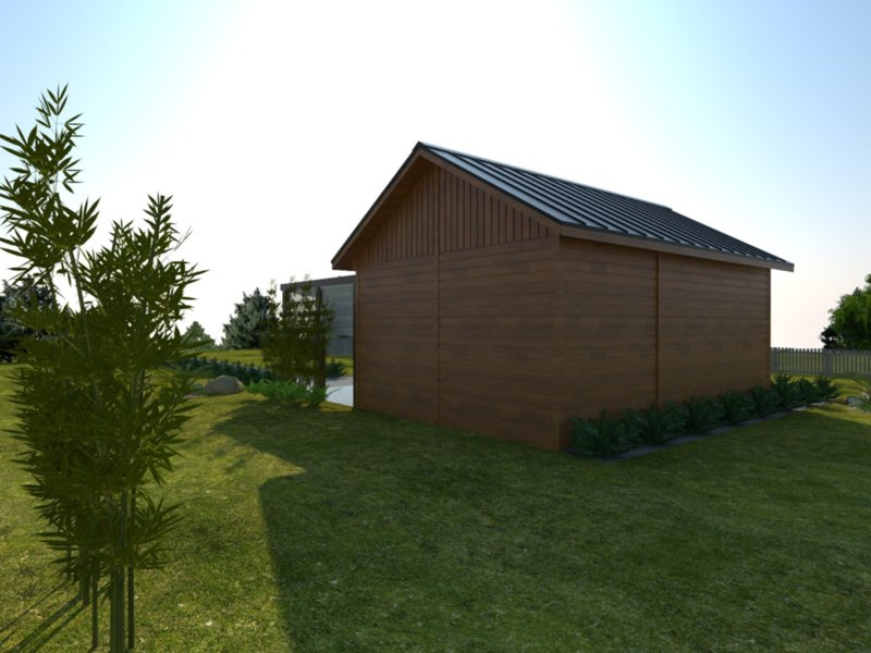 Domek na zgloszenie do 35 m2 drewno
