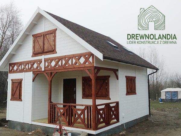 Domek z drewna dzialkowy bez pozwolen