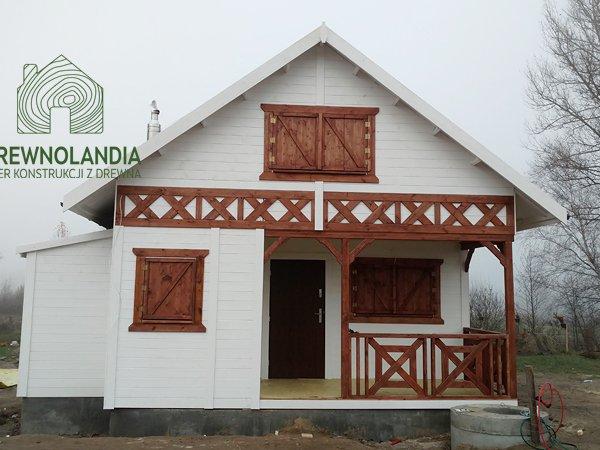Domek z drewna dzialkowy