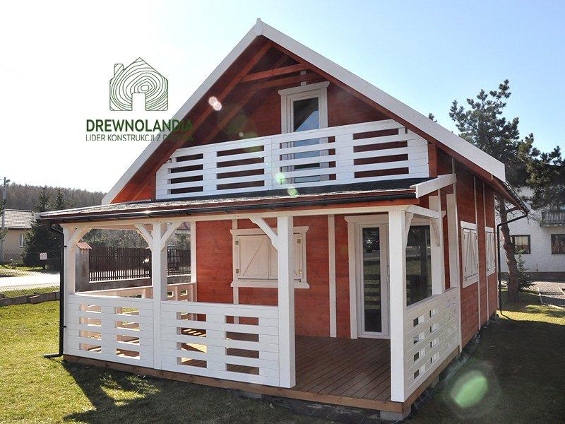 Drewnoandia duzy domek z tarasem