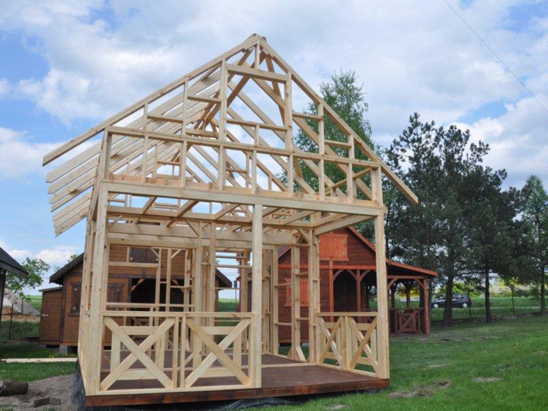Domek do wlasnego wykonczenia drewno