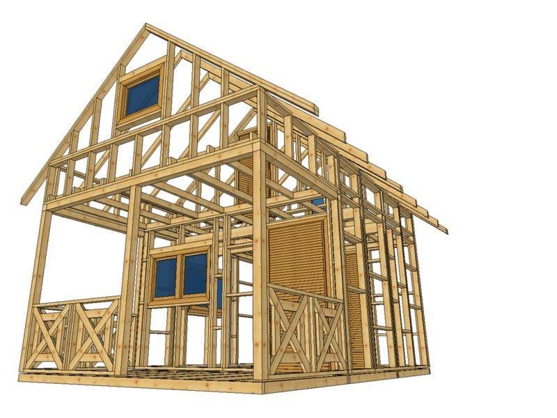 Drewniany domek bez pozwolenia