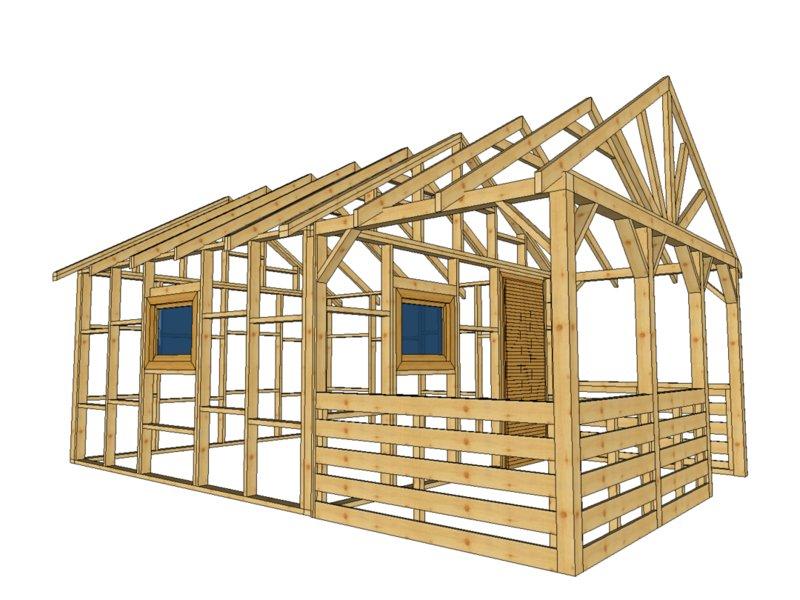 Domek norweski hytte drewnolandia