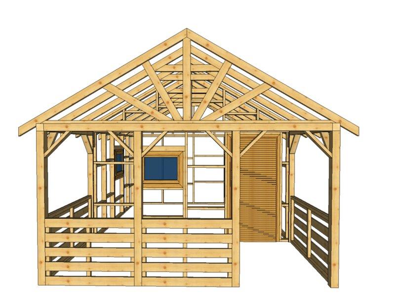 Domek na zgloszenie drewno