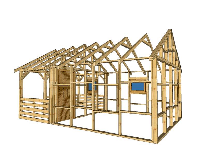 Domek drewniany szkielet do 35m2