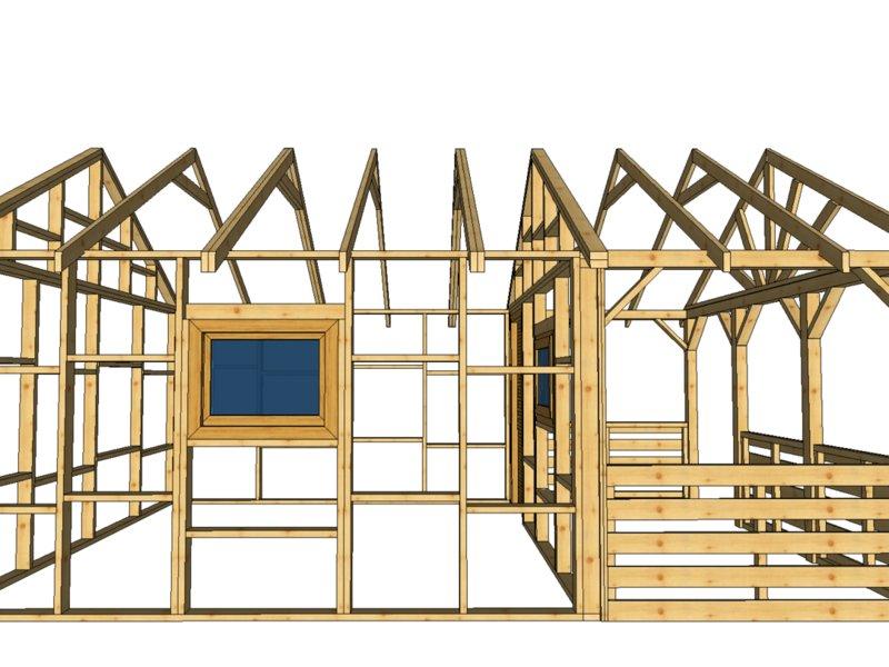 Domek drewnolandia bez pozwolenia
