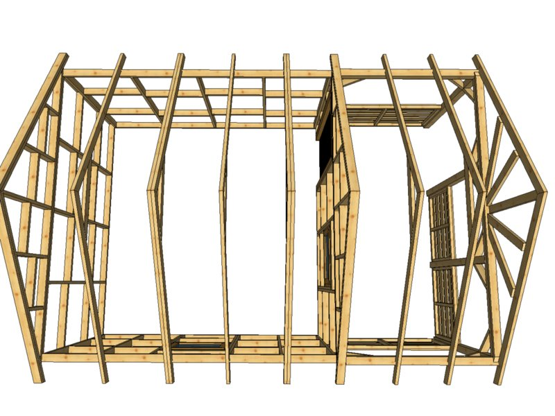 Domek z drewna hytte