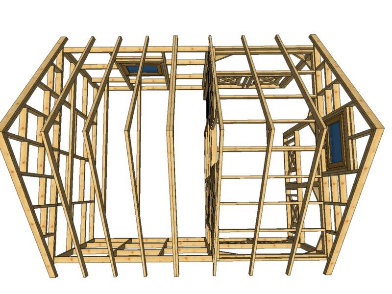Szkielet domku do 35m2