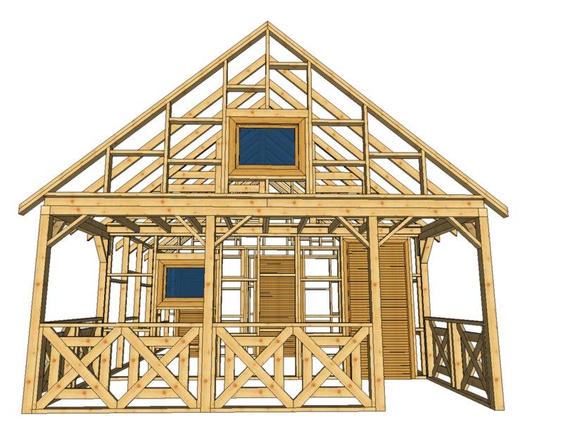 Kanadyjski domek drewniany drewnolandia