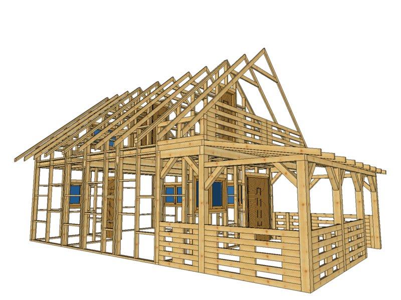 Dawid domek drewniany