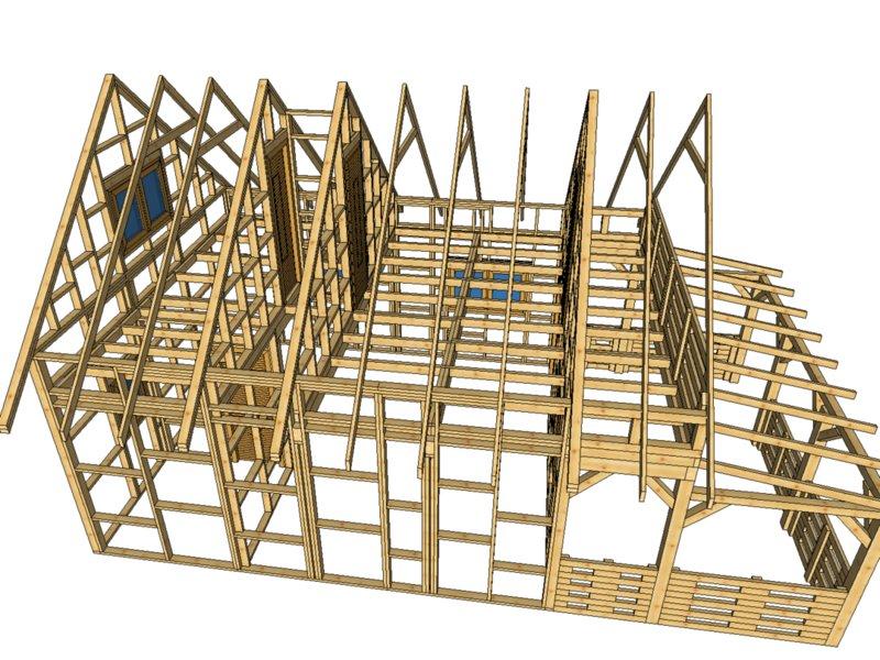 Domek szkieletowy drewnolandia do 35 metrow