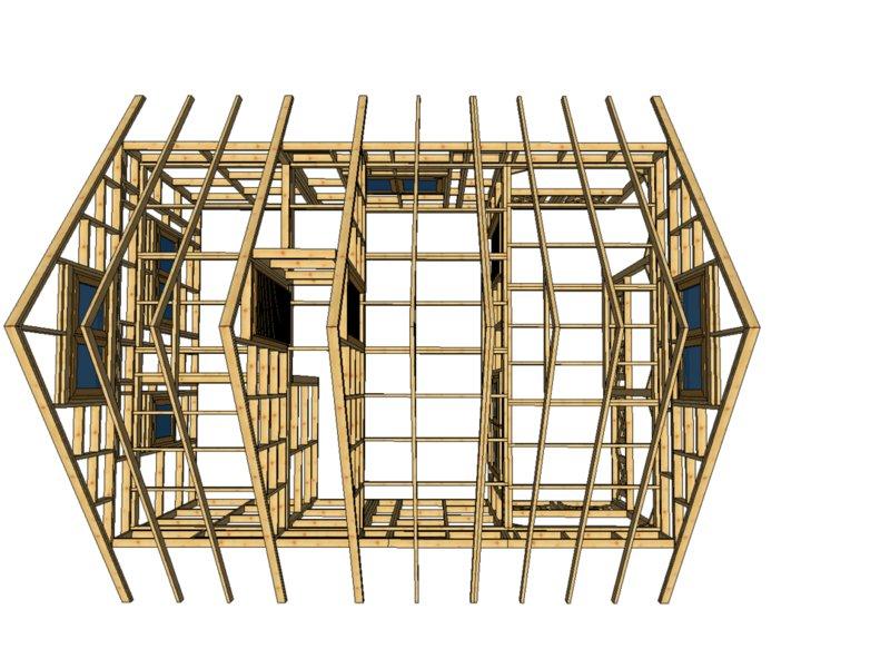 Drewno domek szkielet