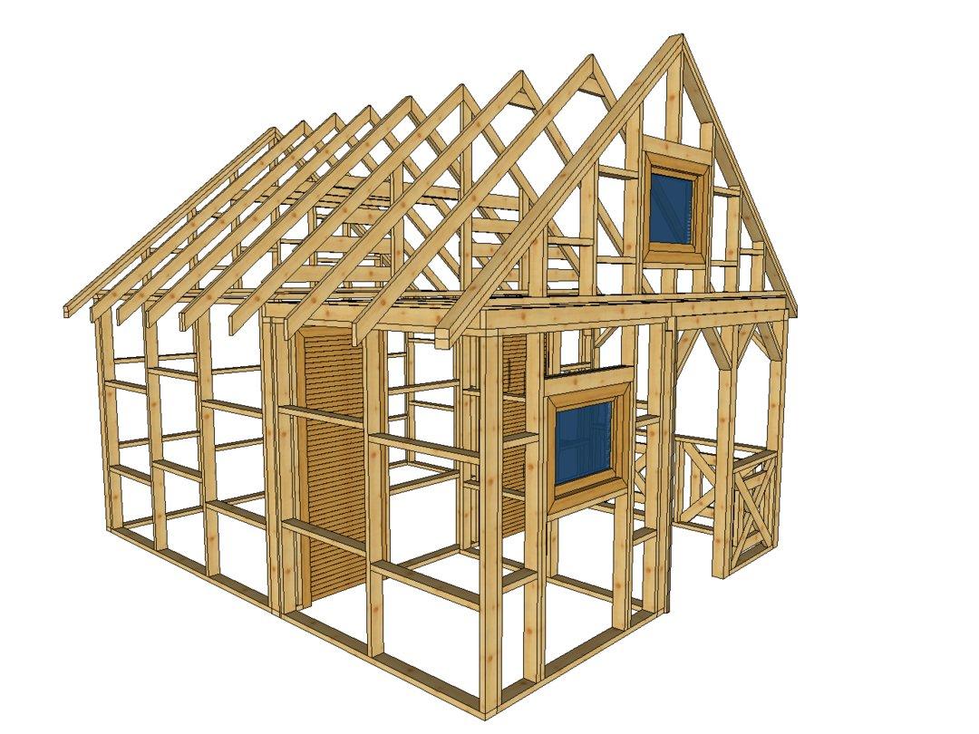 Domek z drewna szkielet kanadyjski